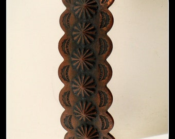 Vintage Southwestern textured COPPER CUFF BRACELET
