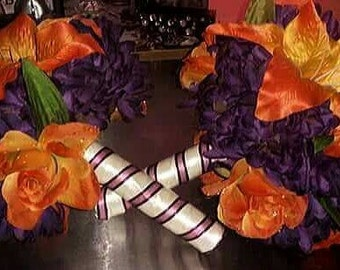 Handcrafted tiger lily bouquet