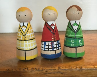 Heathers - Heathers the Musical - Wood Peg Dolls - Unique Gifts - Wood Pegs