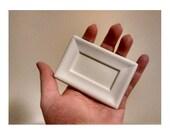 5 Small Unfinished Picture Frames, Plaster Frames, Plaster frames, DIY supplies (Rf: F05)