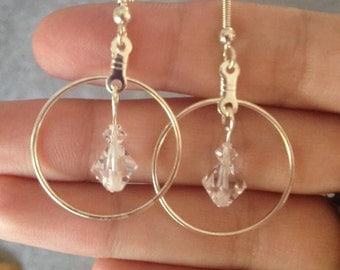 Swarovski Elements Gold or Silver Plated Earrings
