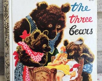 The Three Bears, The Three Bears A little Golden Book, vintage Golden Book