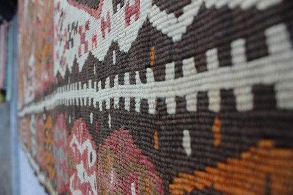 6x 5 Vintage Kelim Teppich Erde Farben Kelim Teppich