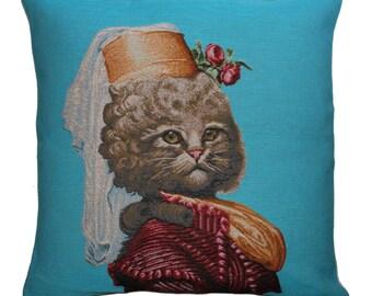 Tapestry Cushion Cat Martha 19