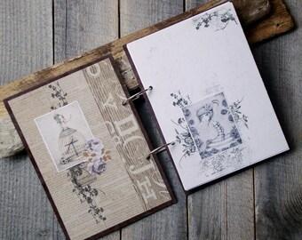 A5 notebook,2-ring binder notebook,Handmade notebook,Gift for her,Gift for women