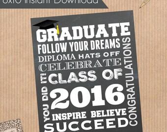 2016 Graduation Printable