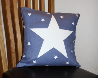 Cushion cover / Star cushion cover /decorative pillow/ nursery cushion / blue cushion / kids cushion / sofa cushion/housewarming gift/pillow