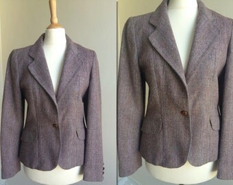 Vintage 70s Tweed Blazer * Size Small