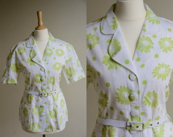 1970s Floral Belted Jacket * Size Medium - Large