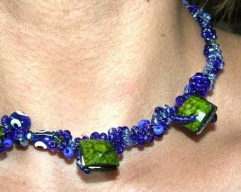 Watchful Eye Mosaic Choker Necklace