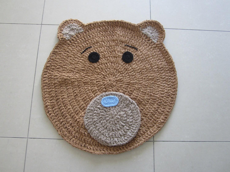 Bären Teppich in Trapilho Zpagetti Tshirt Garn für