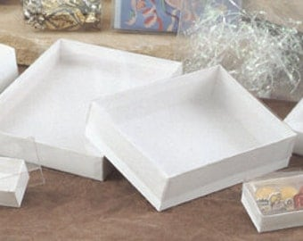 "Clear Top Gift Boxes 7-1/2 x 5-1/2 x 1"" - 20 per case - Greeting Cards, Stationary, Photographs, Jewelry, Party Favors, Display, etc.."