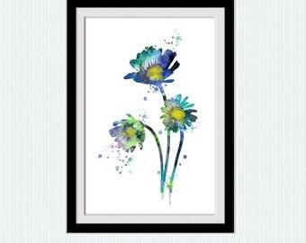Flower poster Flower print Flower wall art Botanical art print Home decoration Living room decor Kids room wall art Botanical poster W553