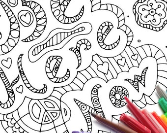 Zen Coloring Page Download Printable Sheet Be Here Now Adult Book Print From