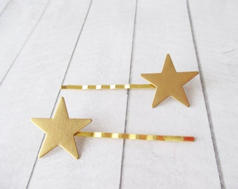 Star bobby pins Gold hair clips Star Hair Pins Hair Accessories Sky Space Milky way Girl accessories