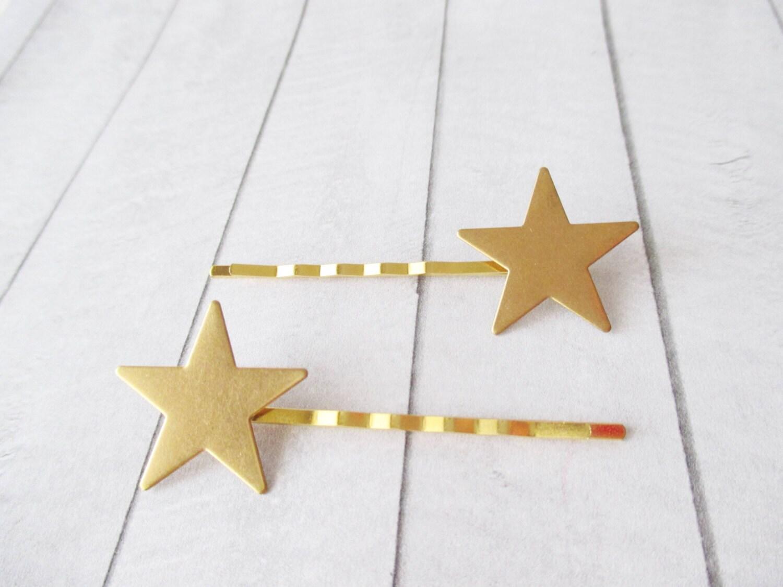 Star bobby pins Gold hair clips Star Hair Pins Hair