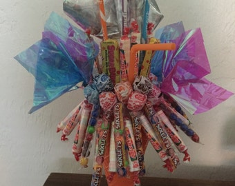 Candy Bouquet in Waffle Cone Cup