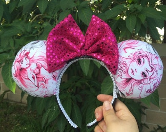 Ariel and Belle Princess Ears