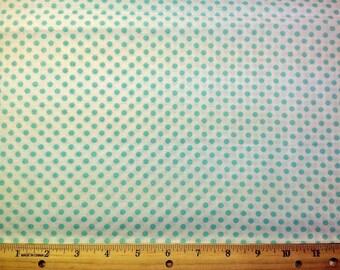 Seafoam Green Pook-a-dot Fabric