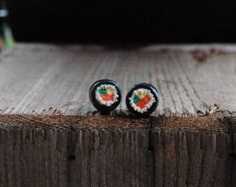 Sushi earrings / studs