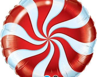 """Candy Balloon, Peppermint Balloon, Happy Birthday, Candy Theme, Birthday Party, Party Decoration, Candy Decoration, Candy Crush, 18"""""""