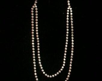Double Diamond Chain Necklace