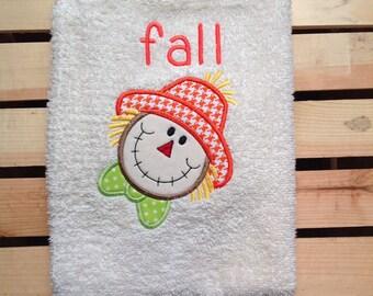 Fall bathroom hand towel