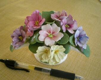 Fine Bone China , primrose spray in white vase
