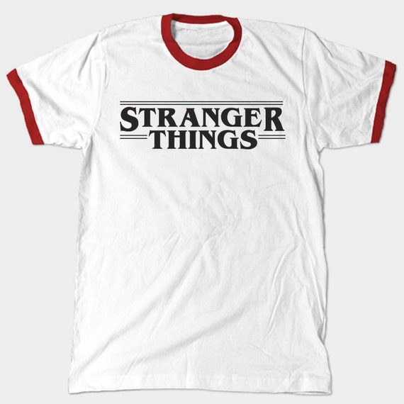 stranger things shirt ringer tee. Black Bedroom Furniture Sets. Home Design Ideas