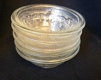 Vintage Pressed Glass Dessert Bowls