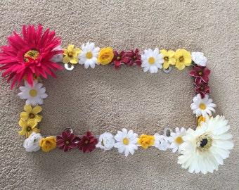 Flower License Plate (2 Big Flowers)