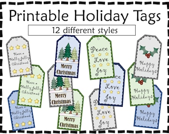Printable Gift Tags - Holiday Gift Tags - Gift Tags
