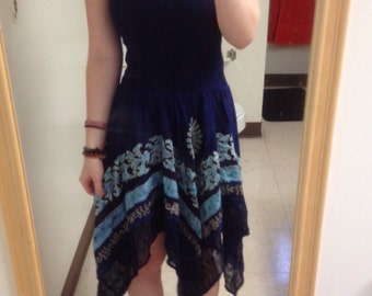 Vintage blue flowery dress