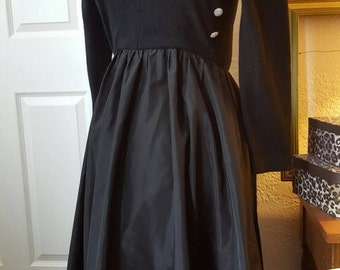 Victor Costa wool gown