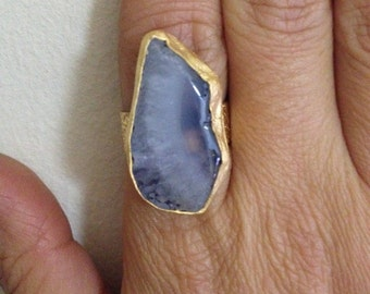 Ring, Gemstone Ring , Blue Ring, Gold Filled Ring, Handmade Ring, Free Size Ring, Christmas gift, Gold Plate Ring, Gift for  Her