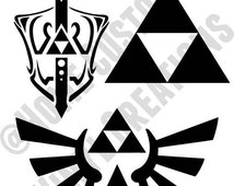3 Zelda Decals