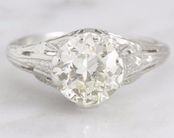 SOLD Marcella- 1.75 ct Old European Cut Diamond Engagement Ring