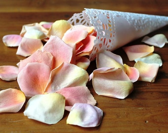 Freeze Dried Rose Petals, Peach, 50 cups of REAL rose petals, perfectly preserved