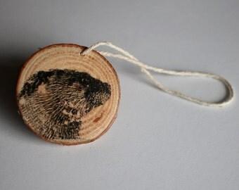 River Otter Ornament, Wildlife Ornament, Wood Ornament, Christmas Gift - Ryer