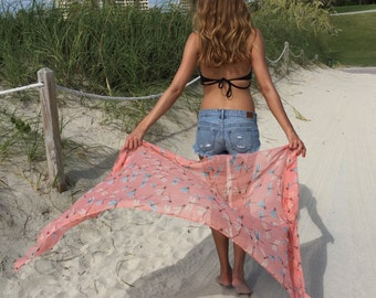 Bathing Suit Cover Ups / Swimsuit Cover Ups / Beach Sarong Wrap / Sarong / Pareo Wrap / Pareo Beach Cover Up / Sarong Cover Up Gift for Her