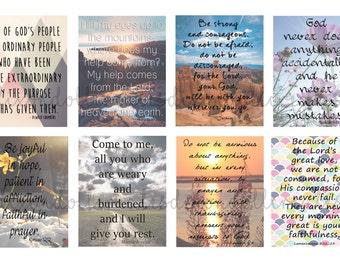 bible scripture planner stickers - Erin Condren life planner stickers - bible journaling - scripture stickers - bible stickers - SET C