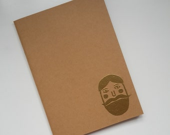 "embossed sketchbook A5 ""not a hipster"""