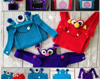 Monster Pad Case Crochet Pattern