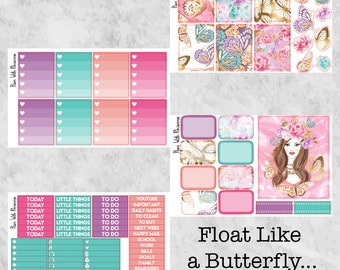 Float Like a Butterfly... 4 Page Weekly Kit for the Erin Condren Life Planner