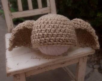 Crochet house elf dobby inspired beanie