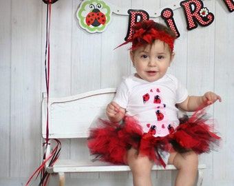 Ladybug first birthday outfit