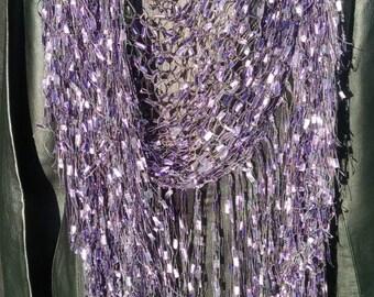 Elegant Shawl/Wrap Knitted with Trellis Yarn