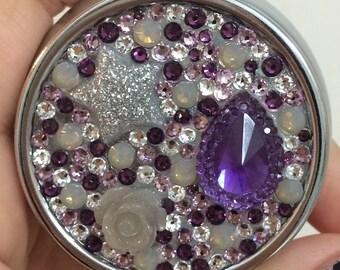 Purple Swarovski Crystal Pill Case