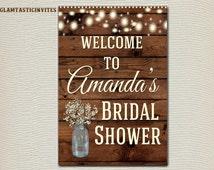 RUSTIC BRIDAL SHOWER Sign, Flower Bridal Shower Sign, Wood Bridal Shower, Rustic Bridal Shower, Rustic Decor, Baby Shower, Shower, Digital