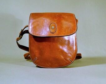 Vintage Etienne Aigner Brown Leather Bag, Shoulderbag, Festival Bag, Shoulderpurse, Purse, Small Bag